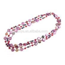 Collier de perles perles nouées à la main longue perle