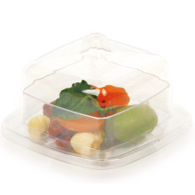 PP/PS Plastic Bowl Mini Square Bowl 3 Oz with Lid