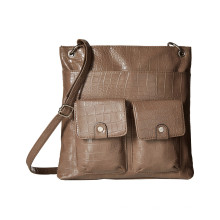 Front Pocket PU Leather Shoulder Bag (ZXS0077)