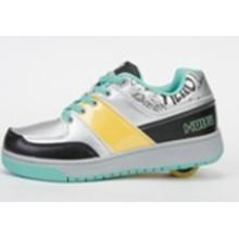 Мода женщин двух колесах Retractable роликовые туфли кроссовки для женщин, высокое качество взрослых роликовые коньки обувь Спорт бренда мужчин