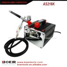 Airbrush Compressor Kit prego pintura mini compressor