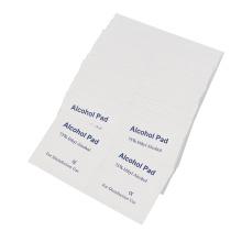 Lingettes humides désinfectantes antiseptiques pour tampons alcoolisés individuels