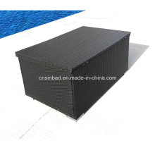 Rattan Box for Outdoor Storage with L132 Cm