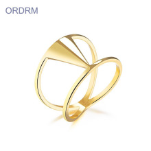 Fesyen Stainless Steel 18k Gold Plated Ring Wholesale