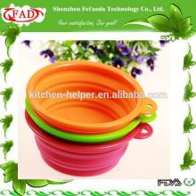 Fabricación Profesional Suministro Unbreakable Silicone Dog Salad Bowl