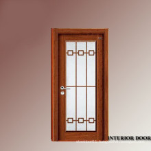 Rock wool infilled fire proof solid teak wood material surface exterior glass door