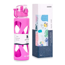 High Borosilicate Glass Drinking Sport Water Bottle Silicone Sleeve For Promotional Gifts