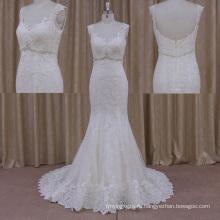 Интеллектуальность Площади Cap Рукавом Кружева Свадебное Платье