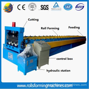 Baja Galvanis Lantai Decking Roll Forming Machine