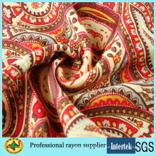Печатная ткань из вискозы из вискозы для женщин, летние платья, ткань