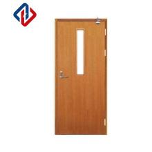 Steel frame Wood panel Door Entry Double Main Wooden Door fire rated wood office doors