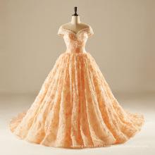 с плеча бисером кружева Пром Quincearean вечернее платье