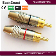 24K Gold Plated 6MM AUDIO VIDEO RCA PLUG