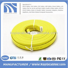 Colorful Flat HDMI Cable 1.4v 25FT support 3D 1080P DVD HDTV LCD