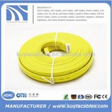 Красочный плоский кабель HDMI 1.4V 25FT поддержка 3D 1080P DVD HDTV LCD