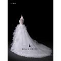 2017 wedding dress long train lace back sleeveless wedding dress
