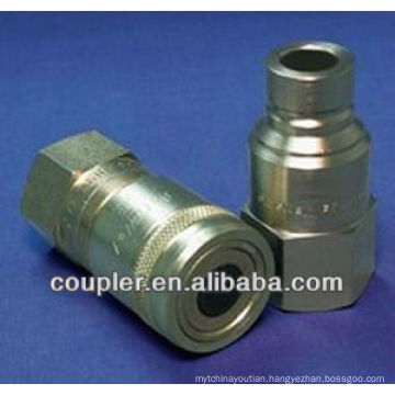 All fluid non-spill quick coupling