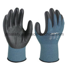 18 калибровочных стойкой работы перчатку с вспененного нитрила покрытием (K3044)