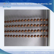 Perles en boule en métal décoratives suspendues Porte-chaîne / rideau de fenêtre