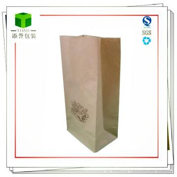 Bolsa de papel de fondo cuadrado para alimentos o cosméticos