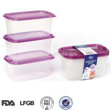 transparente exalados recipiente de alimento plástico 1000ml japonês com orifícios