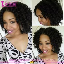 Glueless Silk Top volle Spitzeperücke mit dem Babyhaar für schwarze Frauen-Haar-Locken-Perücken-Großhandelspreis-Spitze-Perücke
