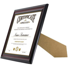 A4 Certificate Mount Degree Wooden for Wall Hanging Tabletop Glass British Display Diploma  Frame