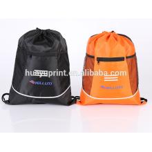 Fonte de crédito de fabricantes, sacos de pano de drawstring do poliéster, sacos verdes, sacos de armazenamento, garantia de qualidade por atacado