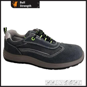 Low Cut Suede Leather Safety Shoe with Steel Toe (SN5424)