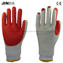 Rubber Sheet Coated Yarn Liner Labor Protective Working Gloves (R001)
