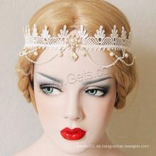 Gets.com Esmalte de estilo gótico Rhinestone Pretty Lace Hair Band