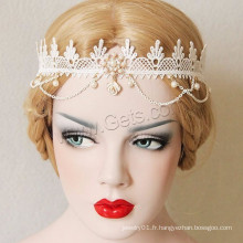 Gets.com Gothic Style Enamel Rhinestone Pretty Lace Hair Band