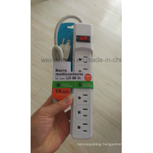 6 Outlet American Power Strip Electrical Socket