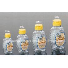 500г Пластиковая медовая бутылочка для питья домашних животных с крышкой силиконового клапана (PPC-PHB-01)
