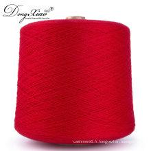 Fil de machine de China SupplierColored pour tricoter et tisser le fil de cachemire de Nm26 / 2 100%