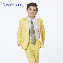yellow linen cotton custom tuxedo boys blazer suits