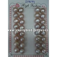 Half drilled pearl AAA grade 11mm, purple