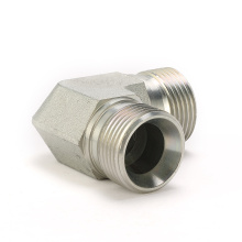 1B9 Hydraulic adapter BSP male 90 degree elbow carbon steel double use 60 cone seat or bonded seal adaptor