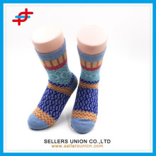 2015 new winter angora wool multi-colored knitting casual warm wool socks in stock