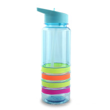 Hot Selling Food Grade BPA Free Water Bottle With Silicon Circle Body