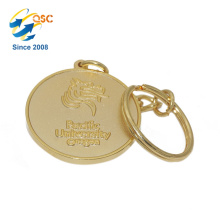 High Quality Custom Logo Promotion Metal Coin Keychain