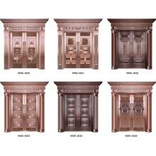Dernière conception prix moins cher porte cuivre extérieure