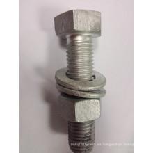 Tuerca / tornillo de acero al carbono galvanizado en caliente de grado 8.8