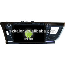 DVD del sistema Android del coche para 2014 Toyota Corolla