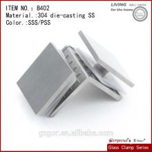 304 Abrazadera de cristal del estante del vidrio de acero inoxidable Vidrio de 90 grados a la abrazadera de cristal