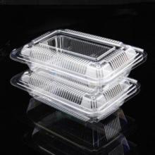 Recipiente plástico descartável claro do empacotamento de alimento do preço barato da promoção com tampa