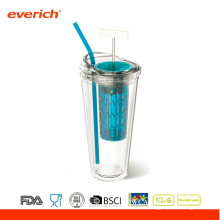 450ML Рекламная BPA бесплатная пластиковая кружка для путешествий