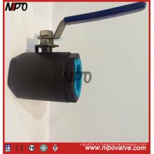 Кованая сталь 2-PCS плавающий резьбовой шаровой кран