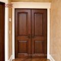 Gute Qualität zweiflügelige Haustür Massivholztür Designs