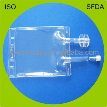 100 ml de dos puertos IV bolsa de infusión de PVC